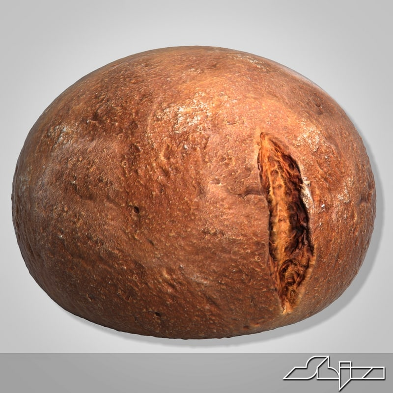 bread modeled 3d 3ds