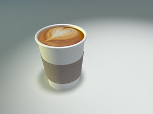 coffee cup latte 3d model
