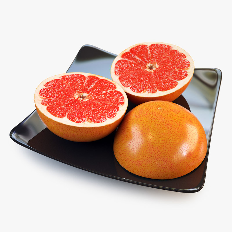 3ds max grapefruit slice orange