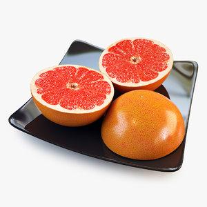 3ds max grapefruit slice orange