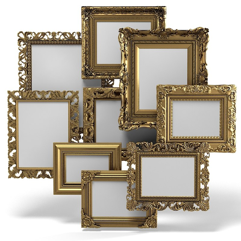 Grand Carved Picture Frame Set