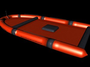 inflattable lifeboat life c4d