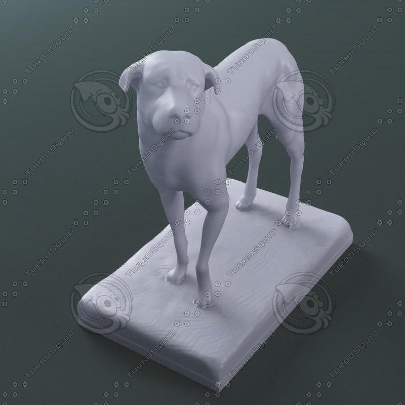 lost dog sculpture print 3d max