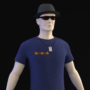 3d peter casual clothes model