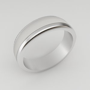 male wedding ring 3d model
