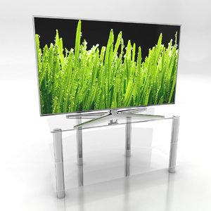 samsung d8000 tv stands 3d model
