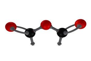 3d anhydride - molecule model