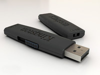 usb flash drive 3d max