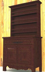 old dresser 3d max
