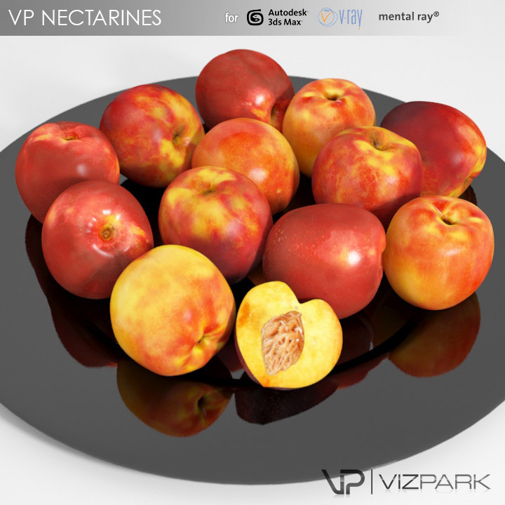 nectarines fruits proxy obj