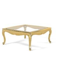 Zanabolni Tavolino T 158 classic baroque coffee side glass carved table