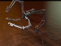 robot rigged c4d