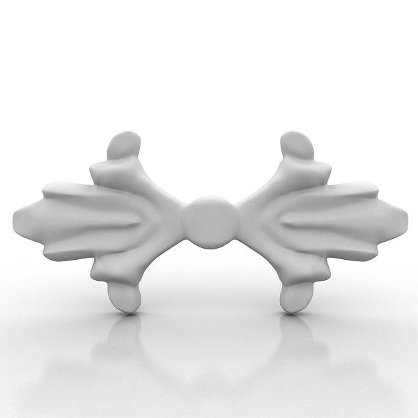 3d architectural element model