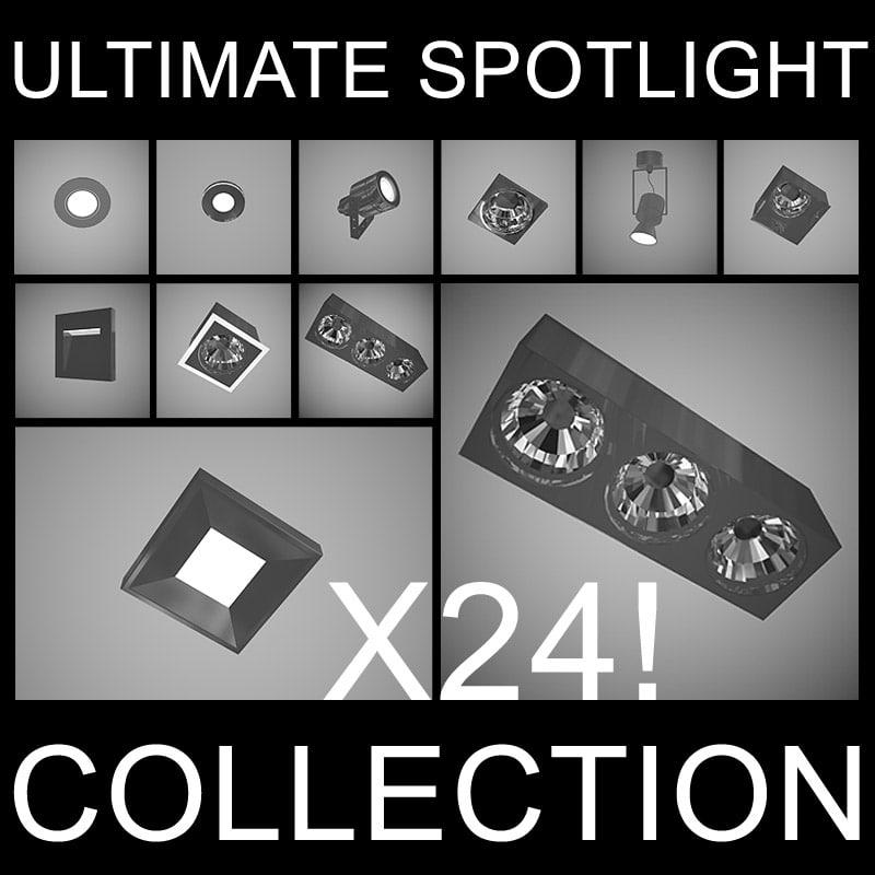 ultimate spotlight ceiling lights 3d model