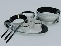 3d tableware model