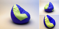 3d model of soft armchair pear