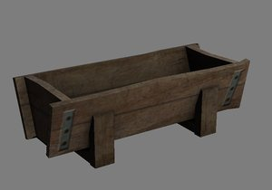 wooden trough 3d max