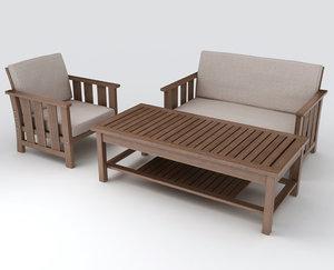 set furniture 3d x