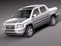 honda ridgeline 2012 pickup 3d model