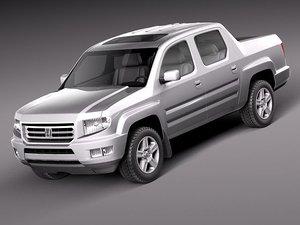 honda ridgeline 2012 pickup 3d model