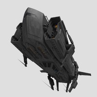 Sci Fi Cargo Freighter Spaceship