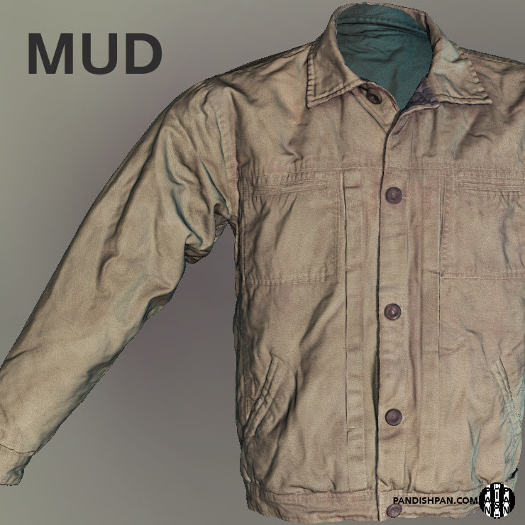 scan male jacket mudbox obj