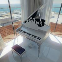 3d model visionnaire larix piano roberto