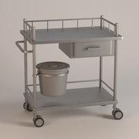 3d hospital table model