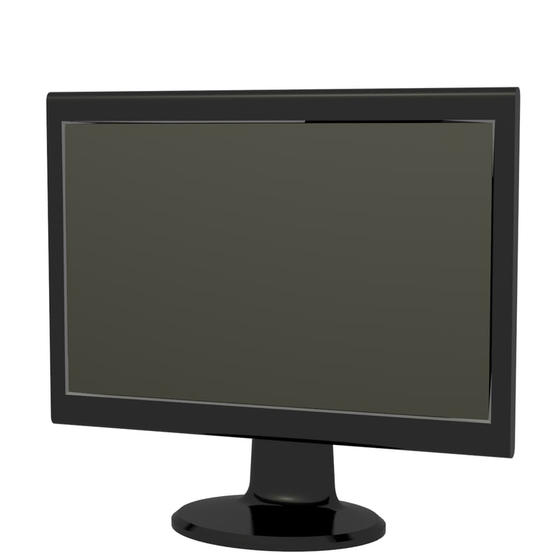 3d realistic lcd computer monitor