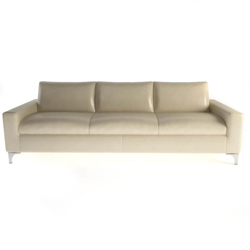 oak couch sc 1008 3d model