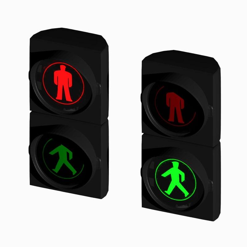 pedestrian traffic light blend