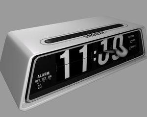3d alarm clock rigged flap