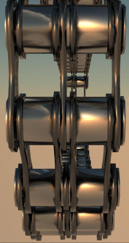 3d tripple link chain cogs