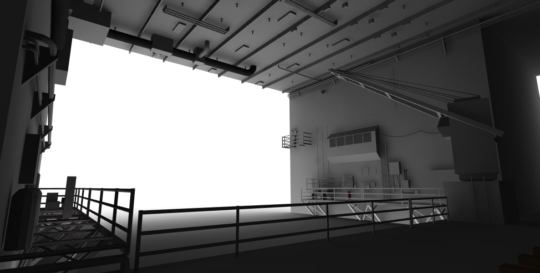 3d model docking hanger