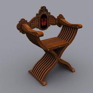 3ds max savonarola chairs