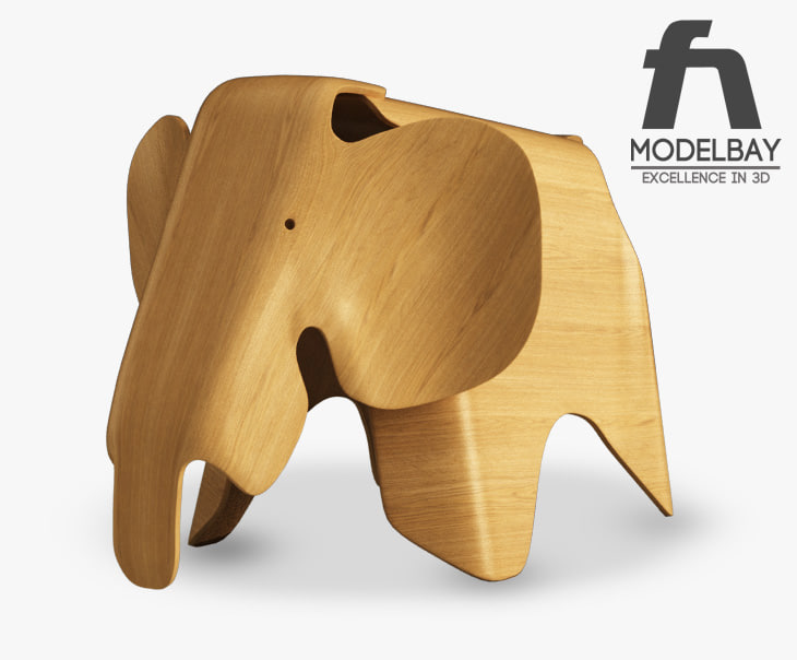 obj eames plywood elephant. Black Bedroom Furniture Sets. Home Design Ideas