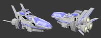 spaceship space ship 3d obj