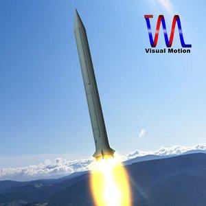 soviet ss-4 sandel missile 3d 3ds