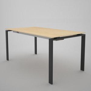 office table 3d c4d
