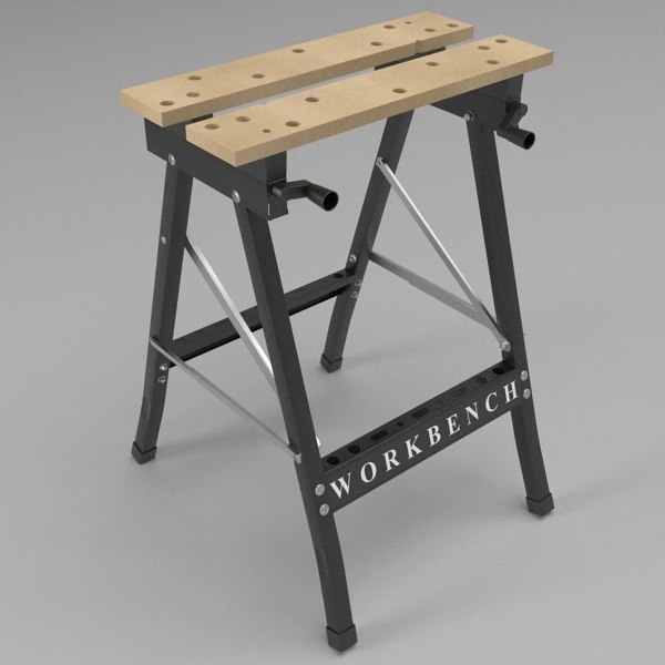3d folding workbench model