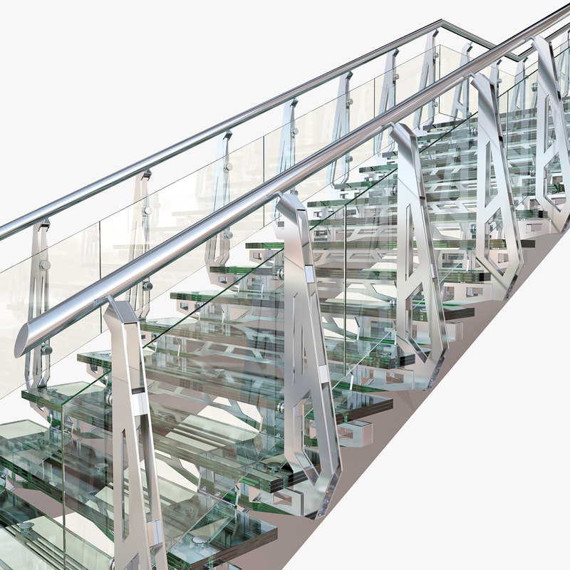 steel staircase 3d max