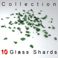 broken bottle glass shards collection