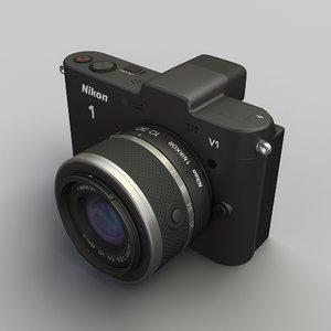 new nikon v1 lens 3d model