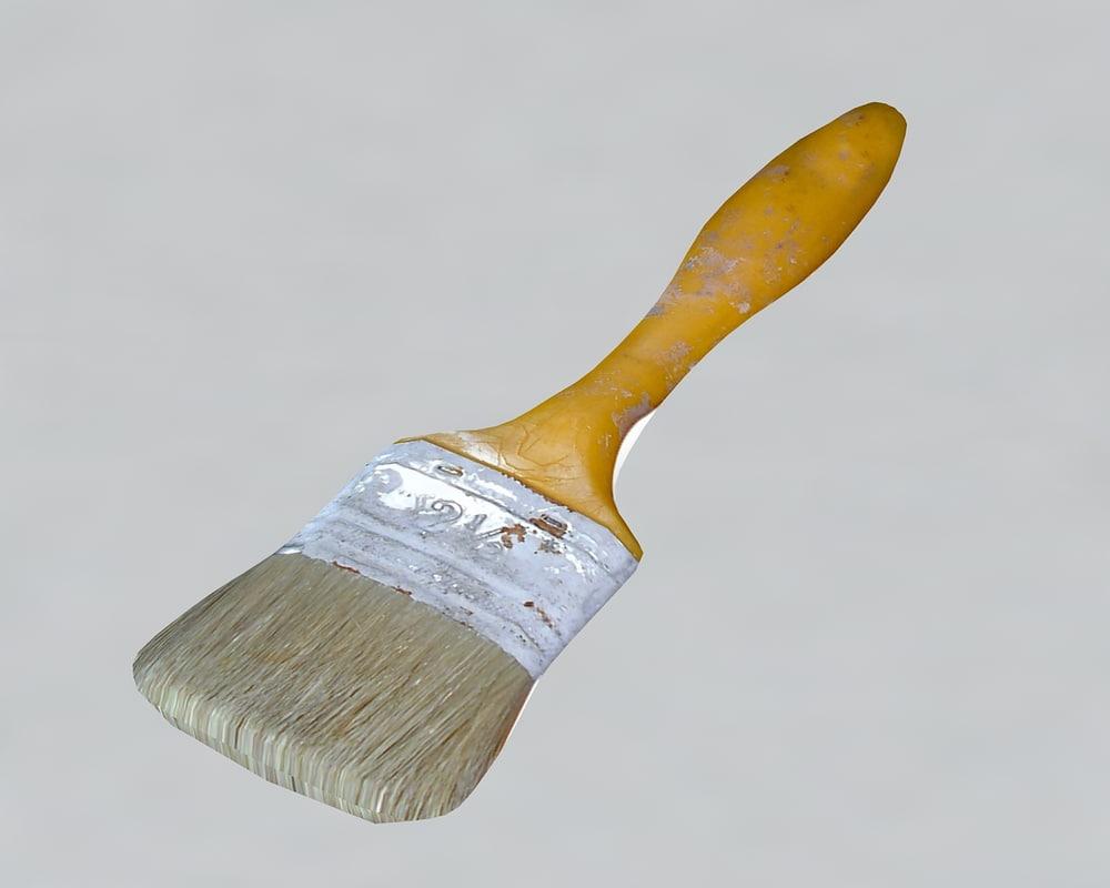 paint brush 3d 3ds