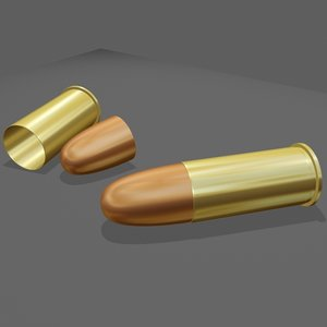 9 bullet shell 3d max