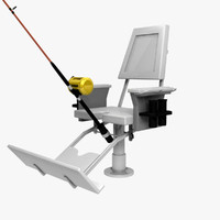 3d obj fish fighting chair