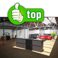 3d model old factory building office