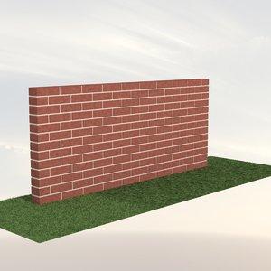 3ds brick wall