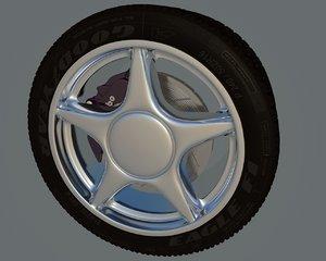 3d wheel breake tires model