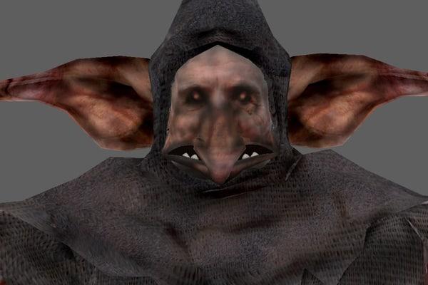 weak enemy creature 3d model